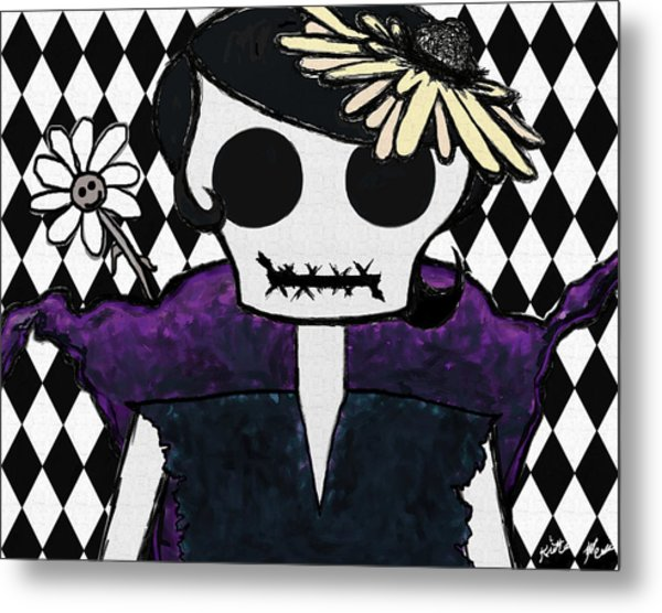 Poker Face Metal Print