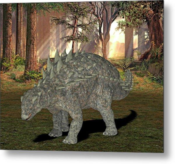 Polacanthus Dinosaur Metal Print by Friedrich Saurer