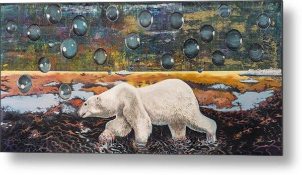 Polar Bear Displacement Replacement Metal Print