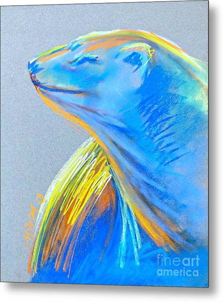 Polar Bear Sun Metal Print
