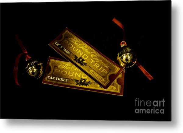 Polar Express Tickets Metal Print