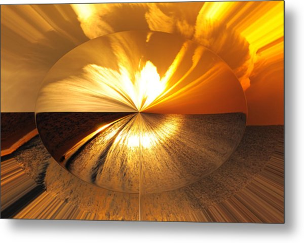 Polarized Sunset Metal Print