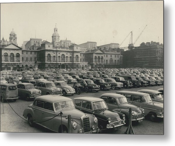 Police Lift Parking Restrictions As Transport Strike Brings Metal Print by Retro Images Archive