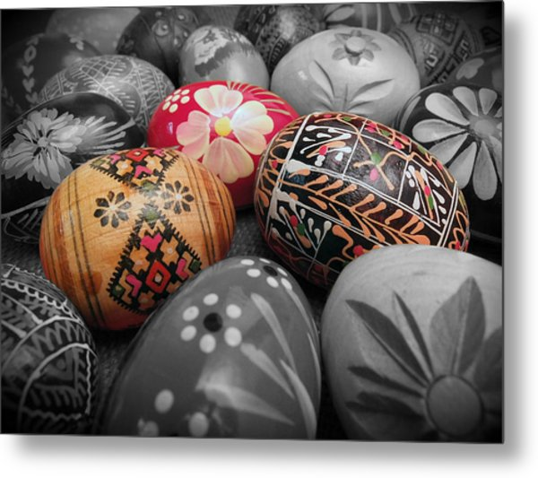 Polish Eggs Metal Print