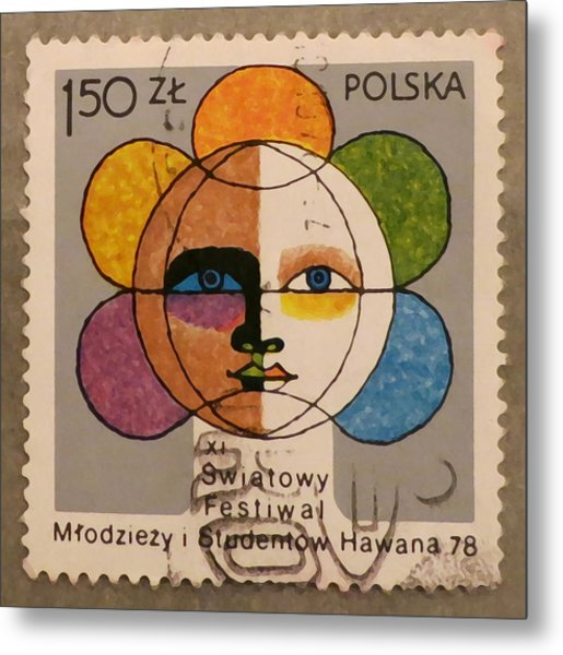 Polish Stamp - World Festival Of Youth And Students In Havana 1978 Metal Print
