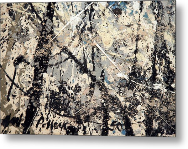 Pollock's Name On Lavendar Mist Metal Print