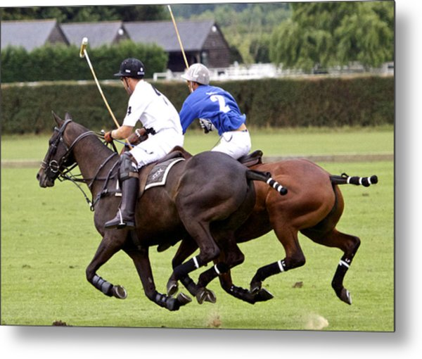 Polo Match In Argentina Metal Print