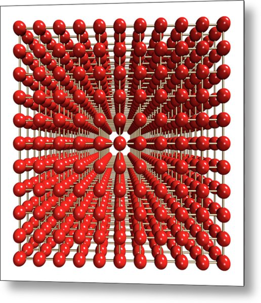 Polonium Crystal Structure Metal Print by Dr Mark J. Winter/science Photo Library