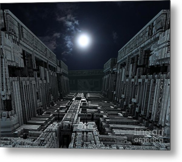 Polychrony Moonlight Metal Print by Bernard MICHEL
