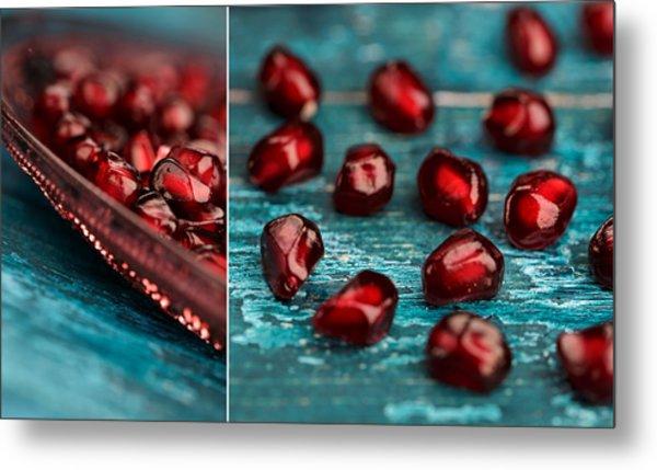 Pomegranate Collage Metal Print