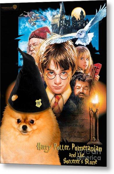 Pomeranian Art Canvas Print - Harry Potter Movie Poster Metal Print