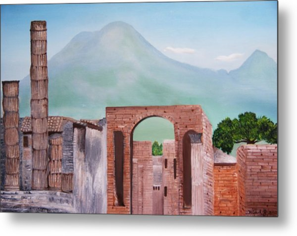 Pompeii And Vesuvius   Metal Print