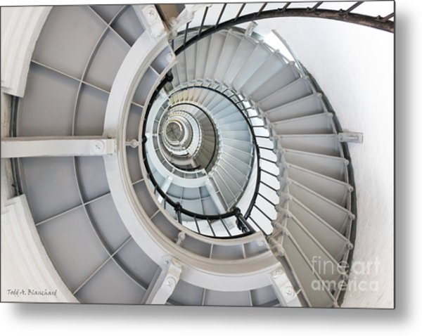 Ponce De Leon Inlet Lighthouse Staircase Metal Print