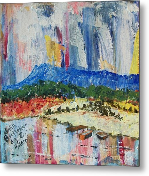Pond By Massanutten Peak - Sold Metal Print by Judith Espinoza