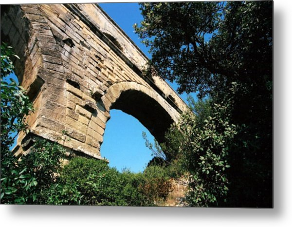 Pont Du Gard Metal Print by Carrie Warlaumont