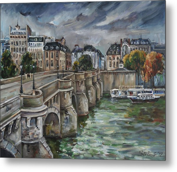 Pont Neuf At Dusk Metal Print
