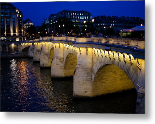 Pont Neuf Bridge - Paris - France Metal Print