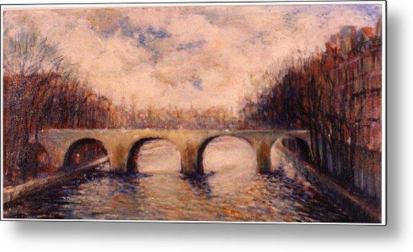 Pont Sur La Seine Metal Print