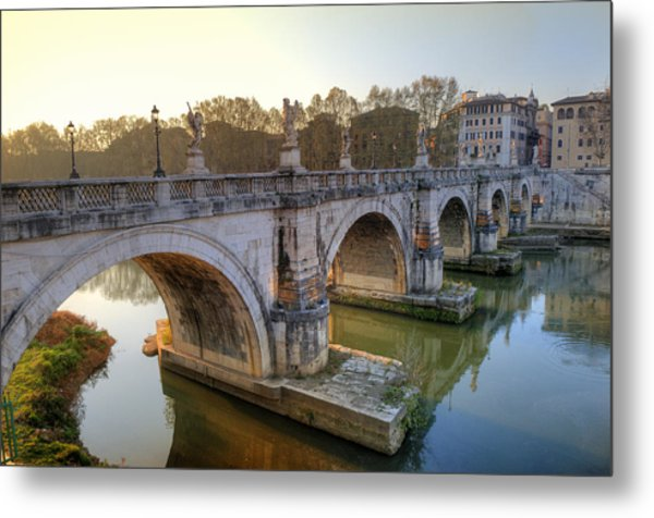 Ponte Sant'angelo  Metal Print