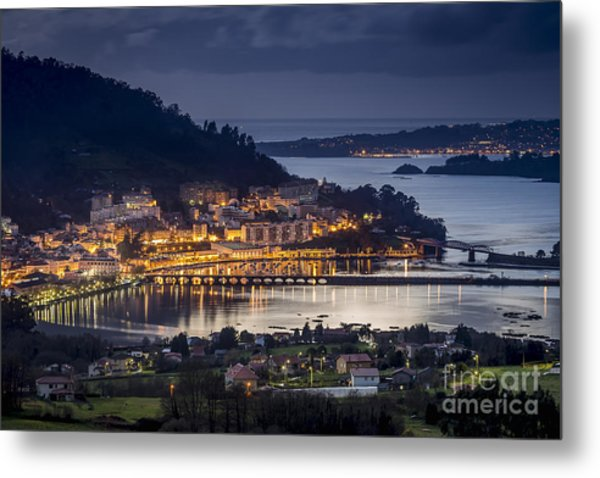 Metal Print featuring the photograph Pontedeume From Cabria Nogueirosa Galicia Spain by Pablo Avanzini