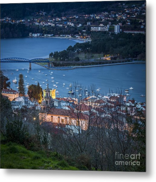 Metal Print featuring the photograph Pontedeume From Vista Alegre Galicia Spain by Pablo Avanzini