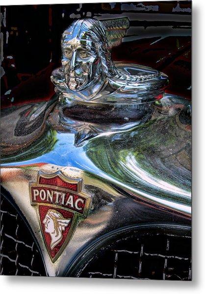 Pontiac Hood Ornament Metal Print