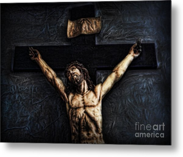 Pontius Pilate's Punishment - Crowned With Thorns Metal Print by Lee Dos Santos