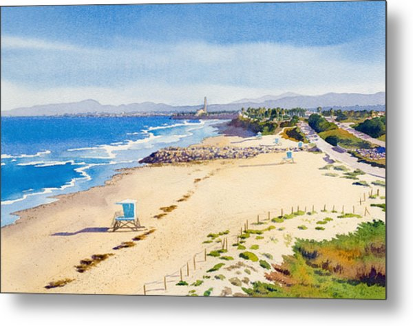 Ponto Beach Carlsbad California Metal Print