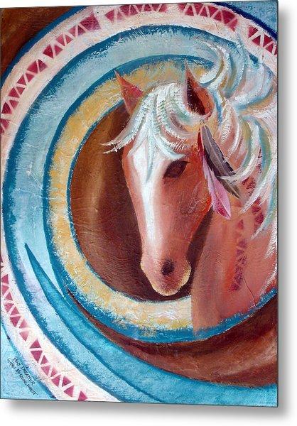 Pony Dreamer Metal Print by Chris Morningforest