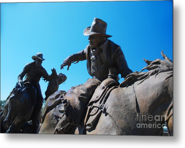 Pony Express Metal Print