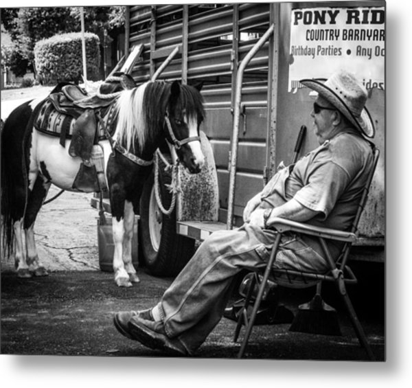 Pony Ride Metal Print