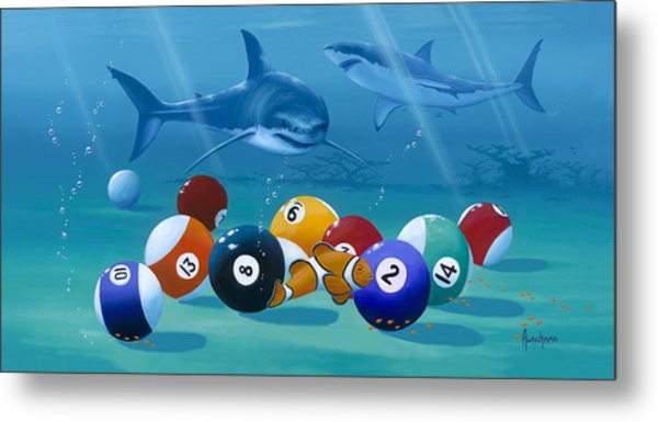 Pool Sharks Metal Print