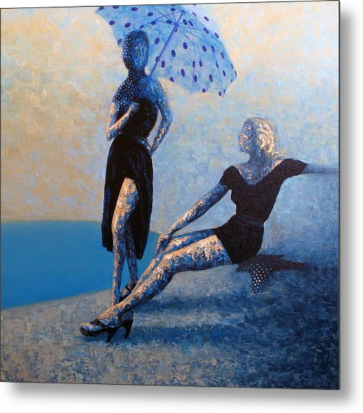 Poolside Metal Print by Ned Shuchter
