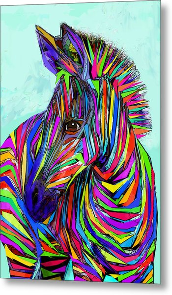 Pop Art Zebra Metal Print