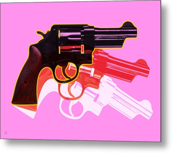 Pop Handgun Metal Print