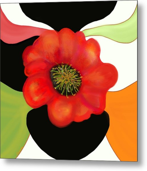 Pop Poppy Metal Print
