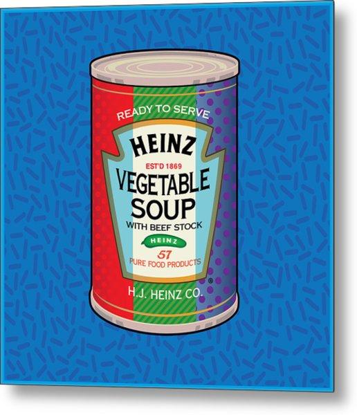 Pop Vegetable Soup Metal Print