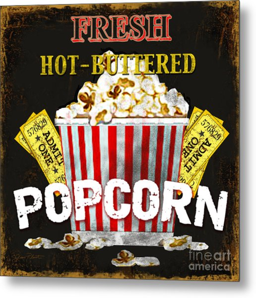 Popcorn Please Metal Print