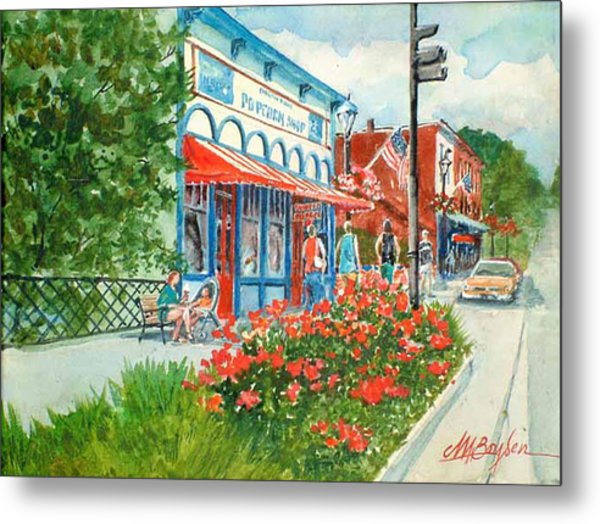 Popcorn Shop In Summer/chagrin Falls Metal Print