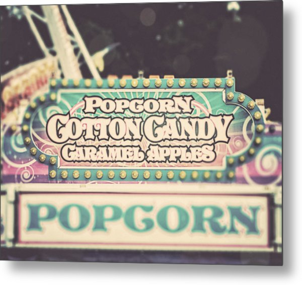 Popcorn Stand Carnival Photograph From The Summer Fair Metal Print by Lisa Russo