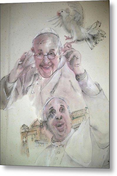 Pope Francis Album Metal Print