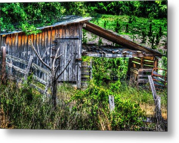Farm - Barn - Pope - Water Valley Barn Metal Print by Barry Jones