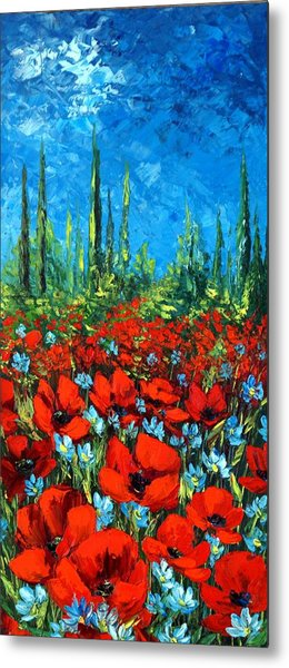 Poppie Field Metal Print