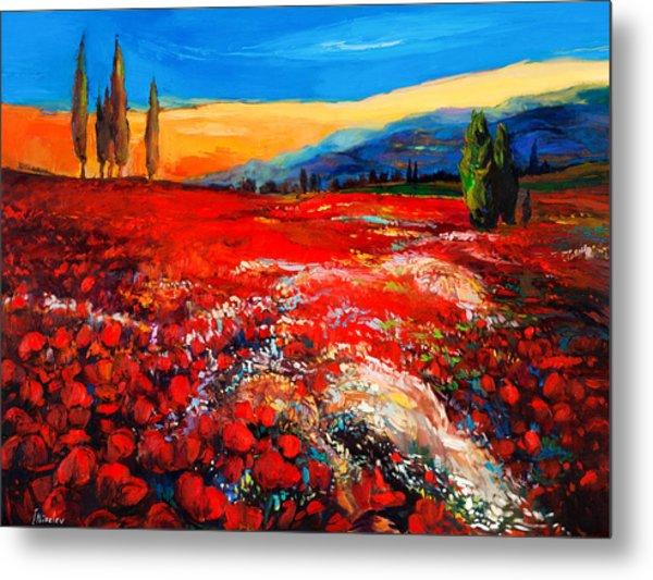 Poppies'field Metal Print by Ivailo Nikolov