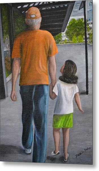Poppy And Me Metal Print