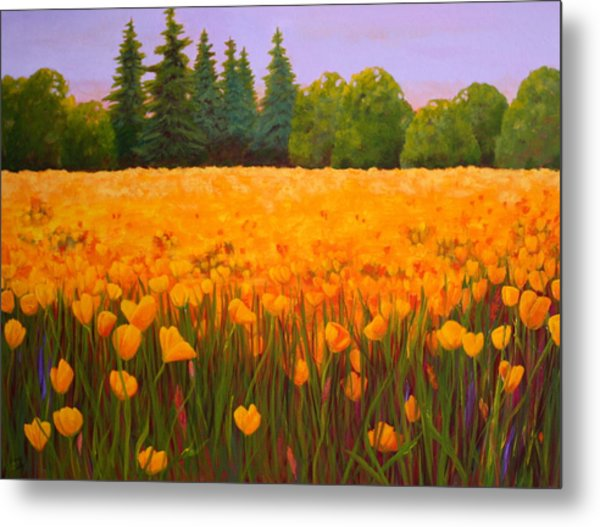 Poppy Fields Forever Metal Print