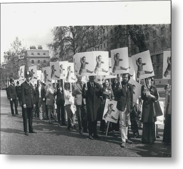 Population Day March Metal Print by Retro Images Archive