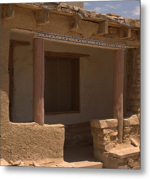 Porch Of Pueblo Home Metal Print
