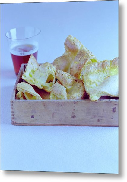 Pork Rinds With A Pint Metal Print