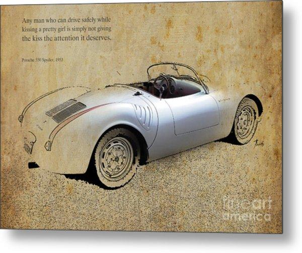 Porsche 550 Spyder 1953 Metal Print